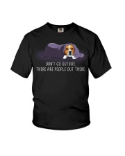 Don'T Go Outside There Are People Out beagle 2 Youth T-Shirt thumbnail