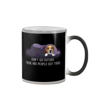 Don'T Go Outside There Are People Out beagle 2 Color Changing Mug thumbnail