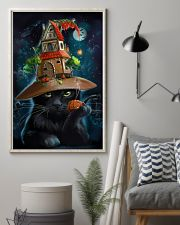 Black Cat Wearing Halloween Hat Poster Painting Living Room Ideas 11x17 Poster lifestyle-poster-1