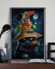 Black Cat Wearing Halloween Hat Poster Painting Living Room Ideas 11x17 Poster lifestyle-poster-2