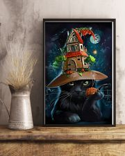 Black Cat Wearing Halloween Hat Poster Painting Living Room Ideas 11x17 Poster lifestyle-poster-3