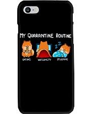 My Quarantine Routine Pomeranian4 Phone Case thumbnail