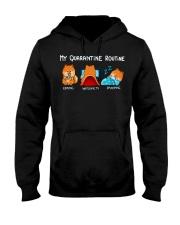 My Quarantine Routine Pomeranian4 Hooded Sweatshirt thumbnail