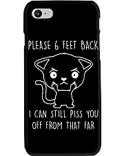 Please 6 Feet Back I Can Still Pis You Off cat Phone Case thumbnail