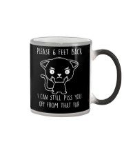 Please 6 Feet Back I Can Still Pis You Off cat Color Changing Mug thumbnail