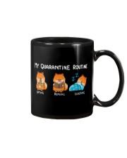 My Quarantine Routine Pomeranian2 Mug thumbnail