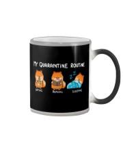 My Quarantine Routine Pomeranian2 Color Changing Mug thumbnail