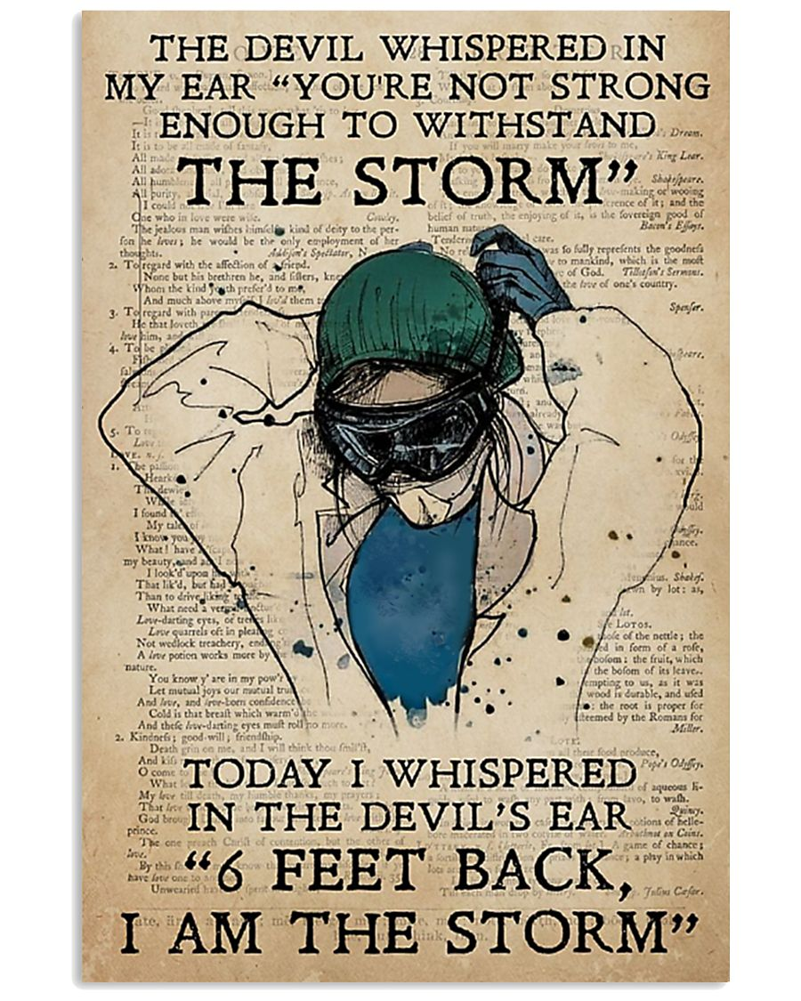 the devil whispered in my ear nurse poster 11x17 Poster