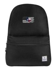 Texas State Black And White American Flag Backpack tile