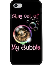 stay out of my bubble sloth Phone Case thumbnail