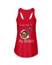 stay out of my bubble sloth Ladies Flowy Tank thumbnail