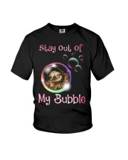 stay out of my bubble sloth Youth T-Shirt thumbnail