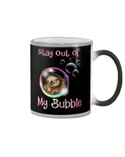 stay out of my bubble sloth Color Changing Mug thumbnail