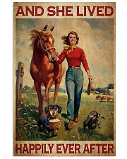 Dachshunds Horse And She Lived Happily Ever After Poster Vintage Wall Hanging 11x17 Poster front