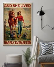 Dachshunds Horse And She Lived Happily Ever After Poster Vintage Wall Hanging 11x17 Poster lifestyle-poster-1
