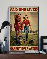 Dachshunds Horse And She Lived Happily Ever After Poster Vintage Wall Hanging 11x17 Poster lifestyle-poster-2