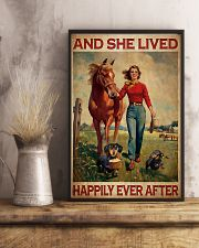 Dachshunds Horse And She Lived Happily Ever After Poster Vintage Wall Hanging 11x17 Poster lifestyle-poster-3