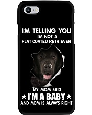 Im telling you im not a flat coated retriever  Phone Case thumbnail
