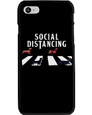 dachshund social distancing Phone Case tile