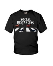 dachshund social distancing Youth T-Shirt thumbnail