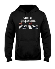dachshund social distancing Hooded Sweatshirt thumbnail