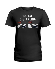 dachshund social distancing Ladies T-Shirt thumbnail