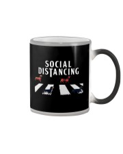 dachshund social distancing Color Changing Mug thumbnail