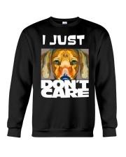 I Just Don'T Care Dachshund Dont Care 1 Crewneck Sweatshirt thumbnail