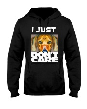 I Just Don'T Care Dachshund Dont Care 1 Hooded Sweatshirt thumbnail