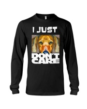 I Just Don'T Care Dachshund Dont Care 1 Long Sleeve Tee thumbnail