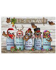 Sloth christmas it's okay 17x11 Poster front