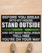 "Before you break into my house Doormat 22.5"" x 15""  aos-doormat-22-5x15-lifestyle-front-02"