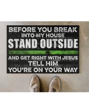 "Before you break into my house Doormat 22.5"" x 15""  aos-doormat-22-5x15-lifestyle-front-04"