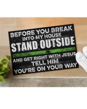 "Before you break into my house Doormat 22.5"" x 15""  aos-doormat-22-5x15-lifestyle-front-11"
