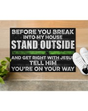 "Before you break into my house Doormat 22.5"" x 15""  aos-doormat-22-5x15-lifestyle-front-12"
