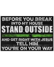 "Before you break into my house Doormat 22.5"" x 15""  front"