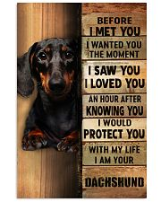 dachshund 11x17 Poster front