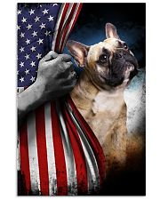frenchie flag 11x17 Poster front