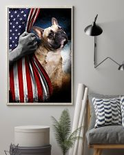 frenchie flag 11x17 Poster lifestyle-poster-1