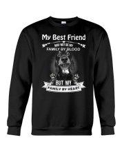 My Best Friend May Not Be My Family By  Dachshund Crewneck Sweatshirt thumbnail