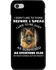 I Don't Like To Think BeforeI German Shepherd Phone Case thumbnail