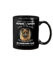 I Don't Like To Think BeforeI German Shepherd Mug thumbnail