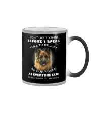 I Don't Like To Think BeforeI German Shepherd Color Changing Mug thumbnail