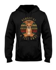 Namast'Ay 6 Feet Away chihuahua Hooded Sweatshirt thumbnail