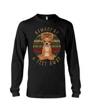 Namast'Ay 6 Feet Away chihuahua Long Sleeve Tee thumbnail