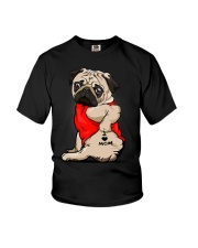 Pug Ilove Mom3232 Youth T-Shirt thumbnail