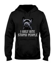 I Only Bite Stupid People frenchbulldog Hooded Sweatshirt thumbnail