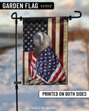 """Sloth Wearing American Flag Patriotic Outdoor Decor Fourth Of July Gifts 11.5""""x17.5"""" Garden Flag aos-garden-flag-11-5-x-17-5-lifestyle-front-14"""