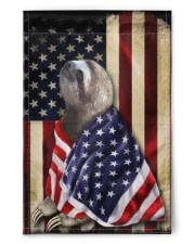 """Sloth Wearing American Flag Patriotic Outdoor Decor Fourth Of July Gifts 11.5""""x17.5"""" Garden Flag front"""