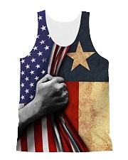 Texas American all over tank All-over Unisex Tank front